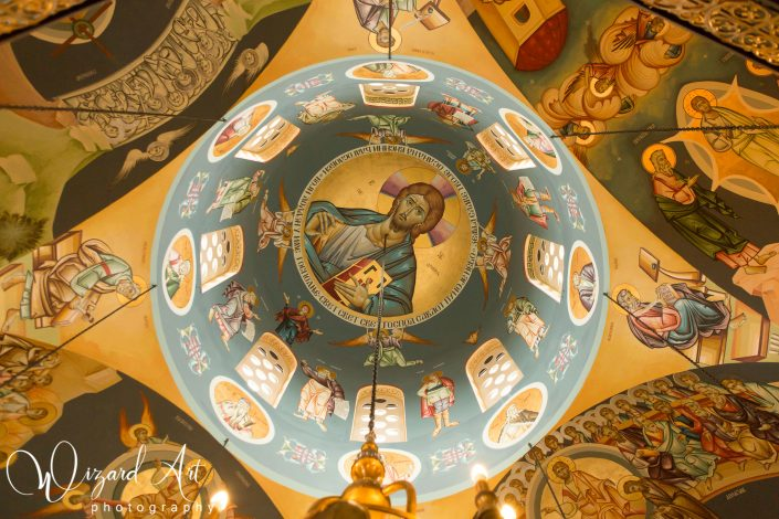 Ceiling mural at St Stefan Serbian Orthodox Church in Rooty Hill, Sydney.
